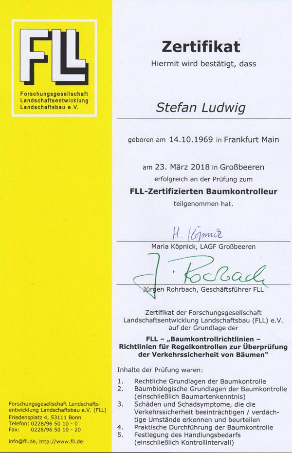 Baumkontrolle-Zertifikat